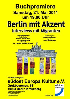 Buchpr sentation und diskussion for Akzent berlin